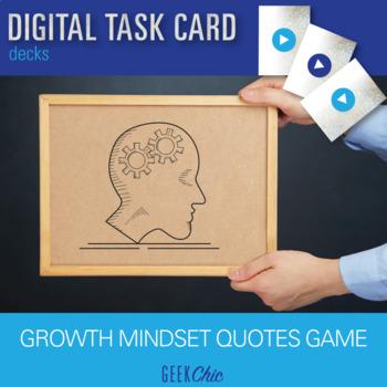 Growth Mindset - DIGITAL TASK CARDS!