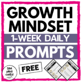 Growth Mindset Daily Prompts - Week 1 for Free