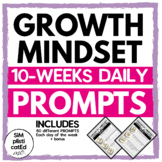 Growth Mindset Daily Prompts for 10 Weeks
