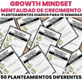 Growth Mindset Daily Prompts - Mentalidad de Crecimiento Planteamientos Diarios