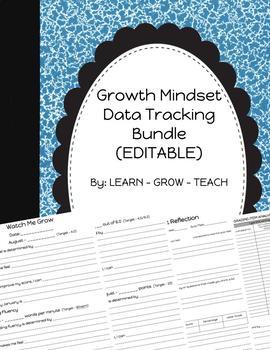 *EDITABLE* Growth Mindset Data Tracking ~Bundle~
