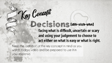 Growth Mindset - Decisions - Video Response
