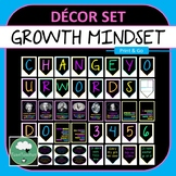 Growth Mindset Decor Pack - Banner Mindset Posters Quote Posters Alphabet