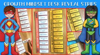 Growth Mindset Desk Reveal Strips - Superhero theme!