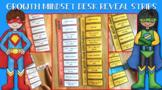 Growth Mindset Desk Strips - Superhero theme!