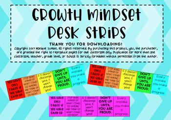 Growth Mindset Desk Strips
