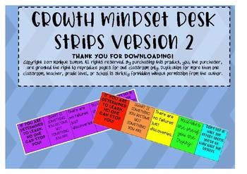 Growth Mindset Desk Strips- Version 2