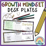 Growth Mindset Desk plates / Name plates