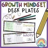 Growth Mindset Desk plates / Name plates