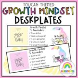 Growth Mindset Desk plates - Name tags {Toucan Theme}
