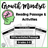 Growth Mindset Differentiated Reading Passage & Context Clues Activities