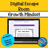 Growth Mindset Digital Escape Room - Distance Learning - No Prep!