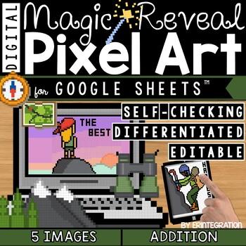 Growth Mindset Digital Pixel Art Magic Reveal ADDITION