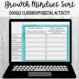 Growth Mindset Digital Sort: Google Classroom Activity