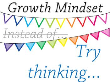 FREEBIE!!! Growth Mindset Display Posters