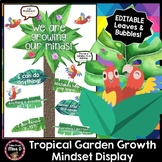 Growth Mindset Display - Tropical Garden