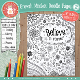 Growth Mindset Doodle Coloring Pages 2