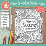 Growth Mindset Doodle Coloring Pages / Posters