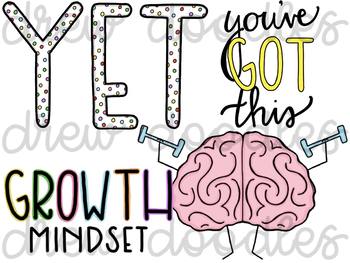 Growth Mindset pt 1 Digital Clip Art Set