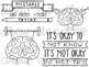 Growth Mindset Doodles Digital Clip Art Set- Black Line Version