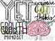 Growth Mindset pt 1 Digital Clip Art Set- Color and Black Line COMBO