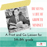 Growth Mindset Dr Seuss One Day Lesson and Sub Plan