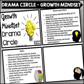 Growth Mindset Drama Circle