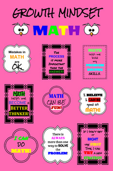 Growth Mindset EDITABLE Poster