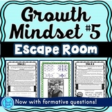 Growth Mindset ESCAPE ROOM #5 Activity: Rosa Parks, T. Roosevelt, Shakespeare