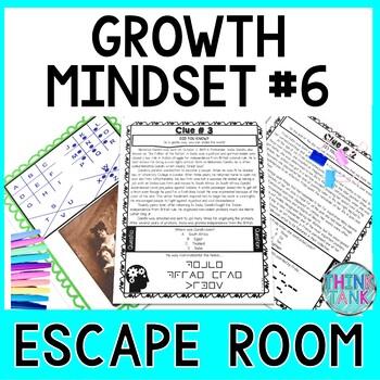 Growth Mindset ESCAPE ROOM #6 Activity: No Prep