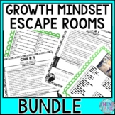 Growth Mindset ESCAPE ROOMS ACTIVITY BUNDLE! 4 Pack of Pos