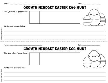 Growth Mindset Easter Egg Hunt