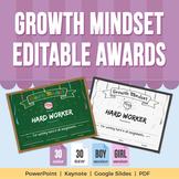 Growth Mindset - Editable Awards