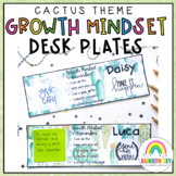 Growth Mindset Editable Desk Name Tags {Cactus / Succulent theme}