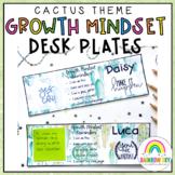 Growth Mindset Editable Desk Name Tags {Cactus / Succulent theme}