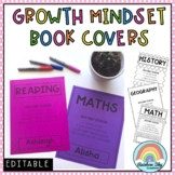 Growth Mindset Editable Book Covers - Editable Subject Page Covers