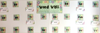 Growth Mindset Editable Word Wall {K-3rd Grade Dolch Words Included}