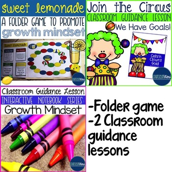 Growth Mindset Elementary School Counseling Resource Bundle
