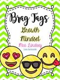 Growth Mindset Emoji Brag Tags