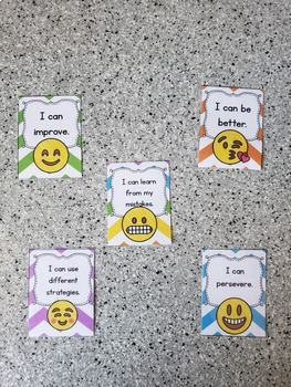 Growth Mindset Emoji Brag Tags