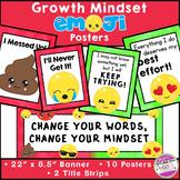 Growth Mindset Emoji Posters