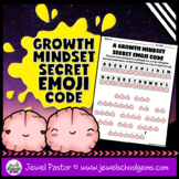 Growth Mindset Emoji Secret Code (Back to School Emoji Act