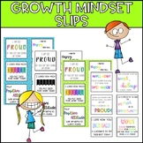 Growth Mindset Encouragement Slips