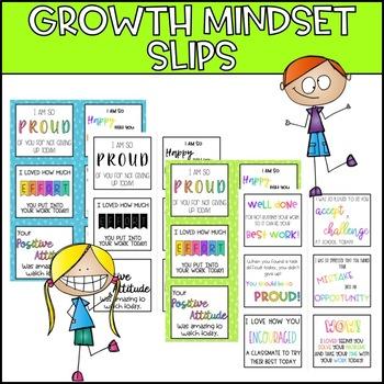 Growth Mindset Encouragement Slips