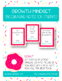 Growth Mindset Encouraging Notes to Students