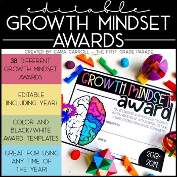Growth Mindset End of Year Awards