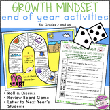 Growth Mindset End of the Year Activities Dice Games