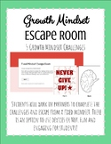 Growth Mindset Escape Room SEL Activity (elementary)
