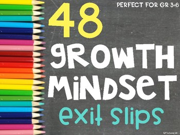 Growth Mindset Exit Slips