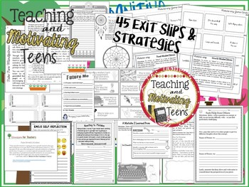 Growth Mindset Exit Slips & Strategies for All Subjects Editable, Middle & High